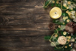 Christmas background with candle and