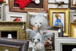 Stall with handmade dolls