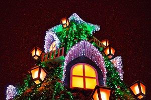 Christmas tree in night Vilnius