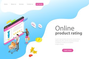landing page for product rating