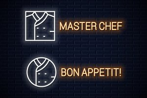 Chef uniform neon sign.