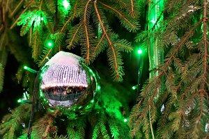 Glowing Christmas ball