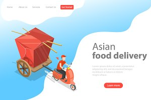 Landing page for Asian food delivery