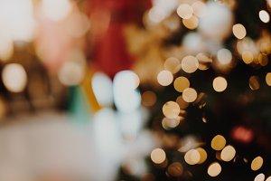 Blurred Christmas Bokeh Background