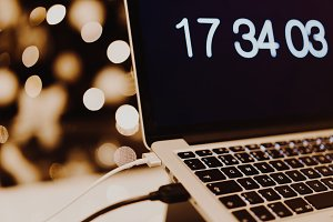 Christmas Marketing MacBook & Bokeh