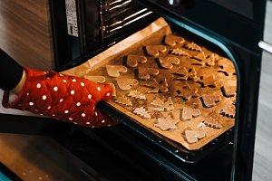 Baked Christmas Gingerbread Cookies