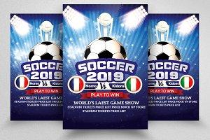 Soccer 2019 Match Flyer Templates