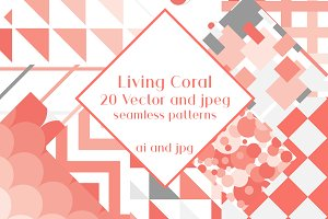 Living Coral. Geometric patterns