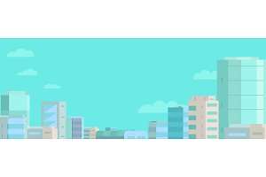 Web banner background. Panorama city