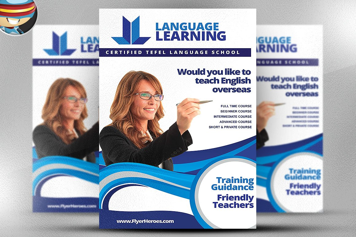 teaching flyer template flyer templates on creative market