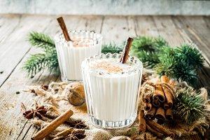 Classic Christmas drink Eggnog