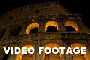 Night view of Roman Colosseum