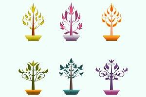 Creative vector trees design