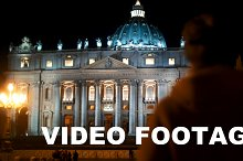 Night view of St. Peters Basilica