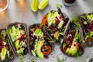banner of Gluten-free vegan tacos fr
