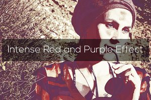 Intense Red and Purple Effect