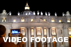Taking pictures of night St. Peters