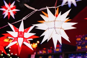 Star lanterns at Christmas Market