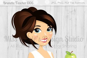 Brunette Teacher 006, Teacher Avatar