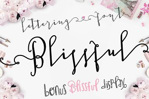 Blissful Script and Display Font