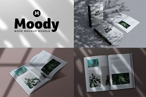Moody Book Mockup Collection