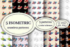 ISOMETRIC seamless patterns