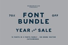 YEAR END SALE!  by  in Display Fonts