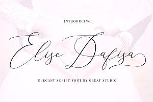 Elise Dafisa - Elegant Script Font