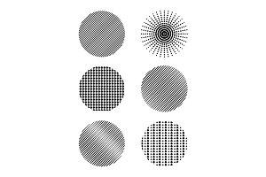Halftone vector circles