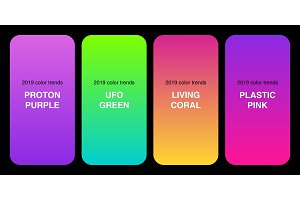 Trendy 2019 Color Palette Gradients