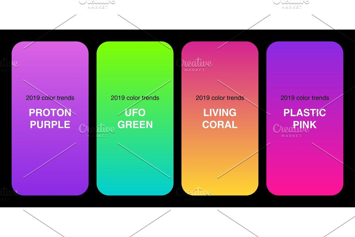 Trendy 2019 Color Palette Gradients Illustrations Creative Market