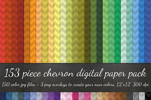153 Piece Chevron Digital Paper