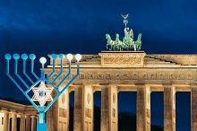 Hanukkah Menorah at Brandenburg Gate