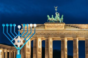 Hanukkah Menorah at Brandenburg Gate