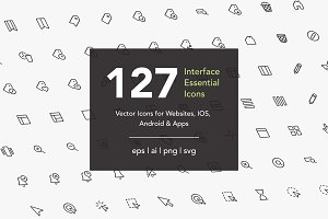 Interface Essential Icons