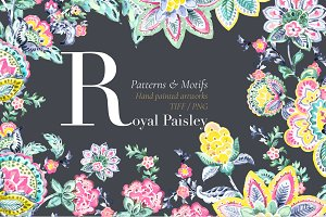 Royal Paisley, Hand painted Design!