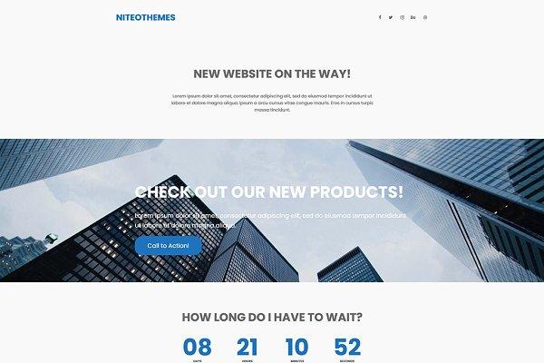 WordPress Landing Page Themes: NiteoThemes - CMP Agency - Business Landing Page
