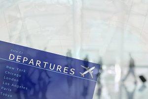 Departure Board Travel Concept
