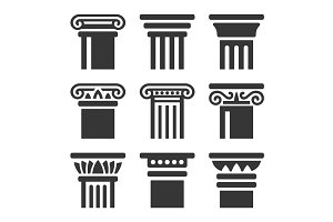 Ancient Columns Icon Set