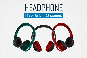 Headphones Mockup Kit