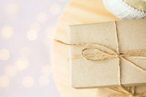 Christmas gift boxes linen ball