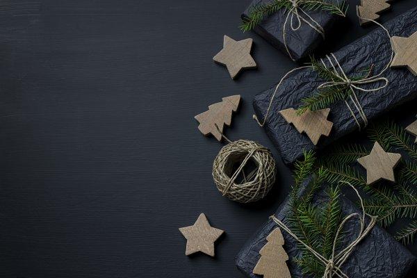 Stock Photos - Dark Christmas Background IV