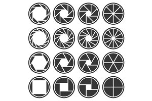 Aperture Camera Shutter Focus Icons