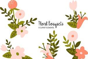 Floral Bouquets Clipart Bundle