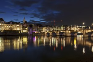 Middle bridge over the river Rhine i