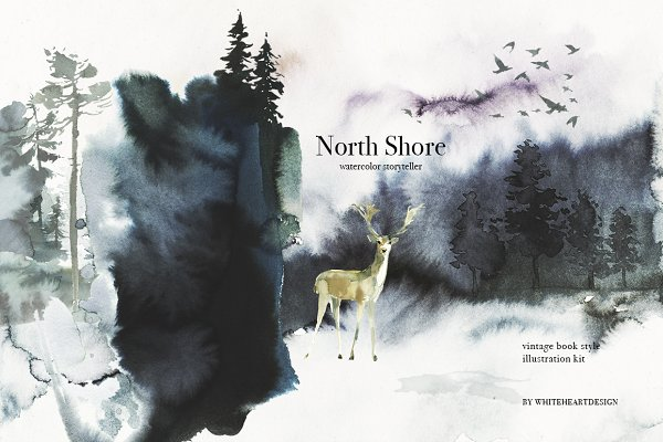 North Shore Book Style Illustration…