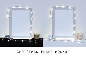 Christmas frame mockup.