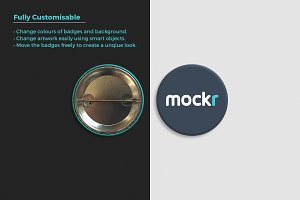 Pin Button Badge Mockup Psd