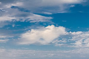 Vivid blue sky