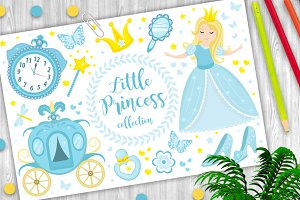Cute little princess Cinderella set